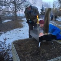 You can even bake pizza for breakfast in a wood oven for friends. #yegbike #coffeeoutside on Friday mornings