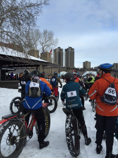 A winter fatbike ride at Dawson Park