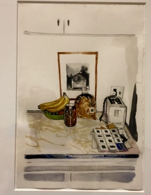 Painting in an artist's kitchen