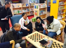Checking out checkers at Stanley Milner Library