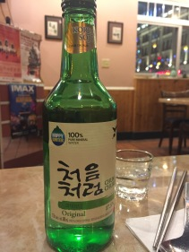 Soju (rice wine) at Korean BBQ