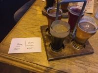 Flights of craft beer
