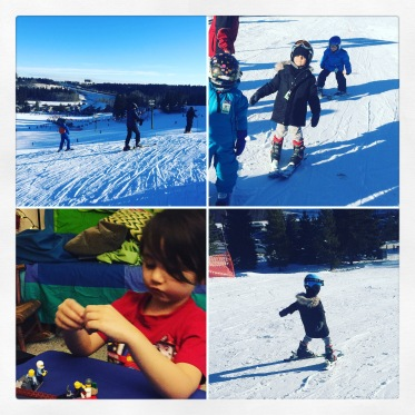 Skiing and LEGO with my grandson