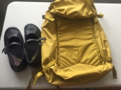 My 2 winter purchases: a carry-on backpack (I loved it) and comfortable shoes (in Victoria)