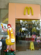 McDonalds was one of the many American-style fastfood restaurants